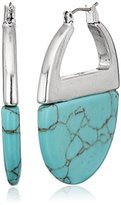 """Kenneth Cole New York Poolside Turquoise"""" Semiprecious Turquoise Hoop Earrings"""