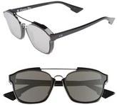 Christian Dior Women's Abstract 58Mm Brow Bar Sunglasses - Black