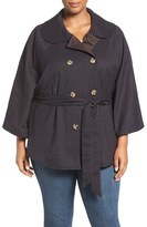 Melissa McCarthy Reversible Belted Cape (Plus Size)