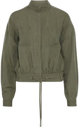 Frame Belted Linen-blend Jacket