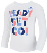 adidas Girls 2-6x Long Sleeve Graphic Front T-Shirt