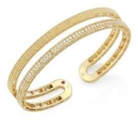 Roberto Coin Double Symphony Diamond& 18K Yellow Gold Bangle