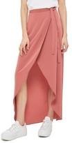Topshop Women's High/low Wrap Maxi Skirt