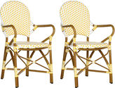 Safavieh Dylan Yellow Bistro Armchairs, Pair
