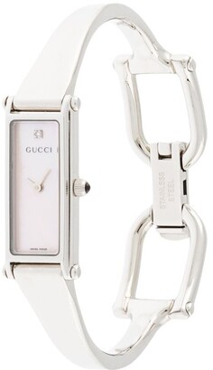 Gucci Pre Owned Pre-Owned Harness Clasp Rectangular Wrist Watch