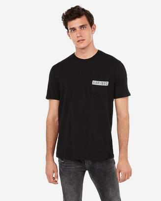 Express Crew Neck Exp Nyc Pocket T-Shirt