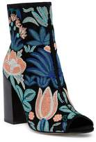 Rebecca Minkoff Billie Embroidered Peep Toe Boot