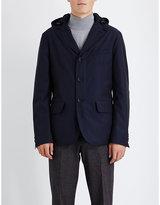 Canali Hooded Wool-blend Blazer