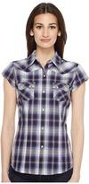 Roper 0834 Driftwood Plaid Women's Clothing