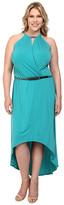 MICHAEL Michael Kors Size Matte Jersey Halter Eliptical Hem Dress