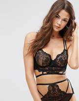 Asos Kitty Lace Detail Longline Underwire Bra