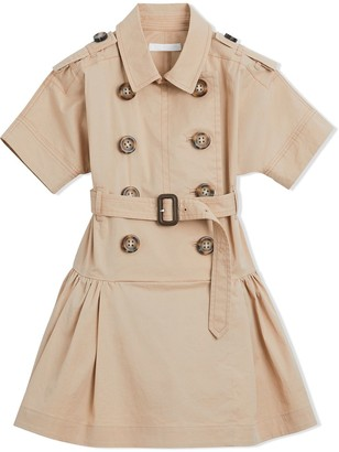 Burberry flared trench dress