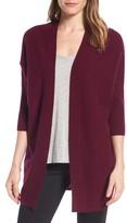 Halogen Women's Three-Quarter Sleeve Cashmere Cardigan