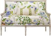 Massoud Furniture Oakridge 56 Settee, White Lemon Tree