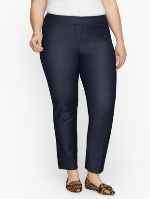 Talbots Plus Exclusive Chatham Fly Front Ankle Pants - Polished Denim