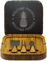 Susquehanna Glass Welcome Friends Square Cheese Set