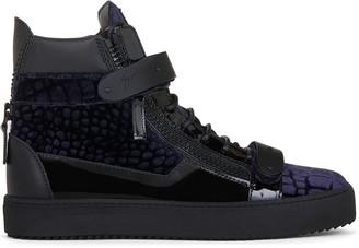 Giuseppe Zanotti Coby crocodile-effect mid-top sneakers