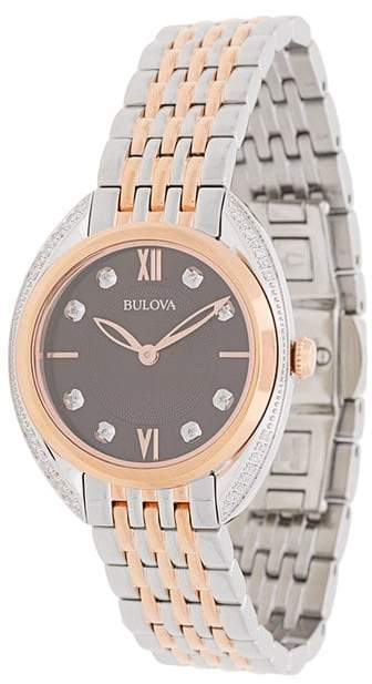 Bulova diamond two-tone bracelet watch