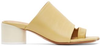 MM6 MAISON MARGIELA Yellow Leather Mules