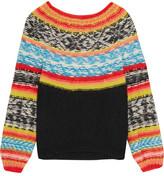 Mes Demoiselles Goyave Fair Isle Knitted Sweater - Orange