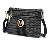 Mkf Collection By Mia K. MKF Collection by Mia K. Women's Wristlets - Black Tarren Signature Crossbody Wristlet