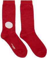 Blue Blue Japan Red and Off-White Dot Socks