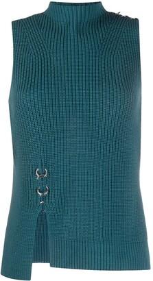 Diesel Ring Detail Rib Knit Top