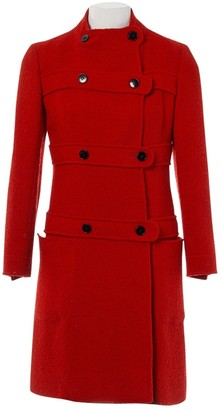 Valentino Red Wool Coats