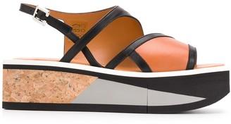 Clergerie Umy contrast heel sandals
