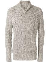 N.Peal twisted shawl cashmere jumper