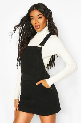 boohoo Denim Overall Pinafore Dress