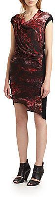 Helmut Lang Midnight Floral Draped Dress
