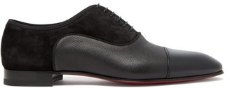 Christian Louboutin Greggo Panelled Leather Oxford Shoes - Black