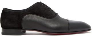 Christian Louboutin Greggo Panelled Leather Oxford Shoes - Mens - Black