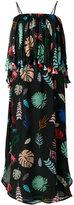 Carolina K. leaves tassel frill dress - women - Silk - S