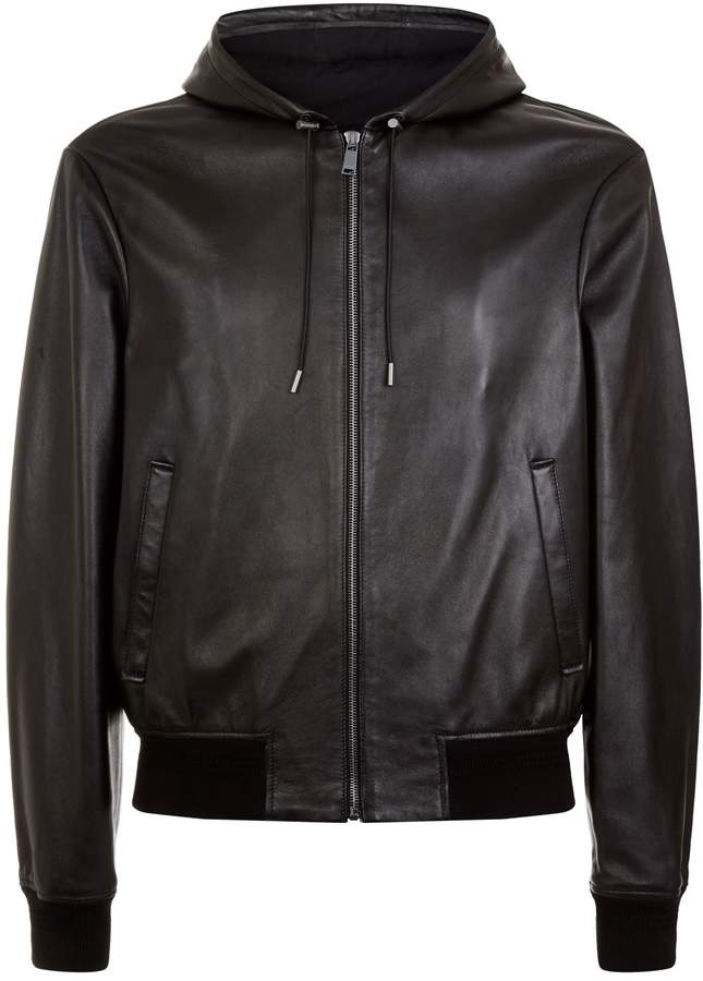 Versace Leather Medusa Jacket