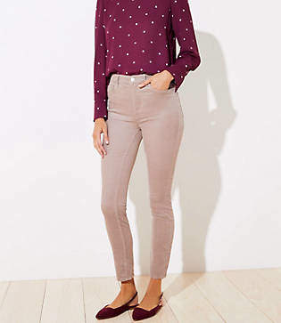LOFT Tall High Waist Corduroy Skinny Pants