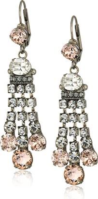 Sorrelli Womens Snow Bunny Three-Strand Dress-Up Drop Earrings