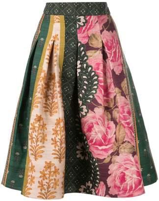 Oscar de la Renta floral print puffy skirt