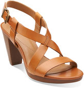 Clarks Jaelyn Fog Leather Sandals