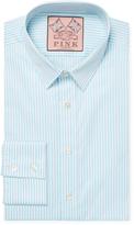 Thomas Pink Men's Vertical Lines Slim Fit Dress Shirt