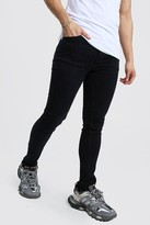 boohoo Mens Black Skinny Fit Jeans, Black