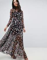 ASOS Edition ASOS EDITION All Over Multi Colored Floral Embroidered Maxi Dress