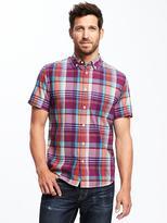 Old Navy Slim-Fit Madras Shirt for Men