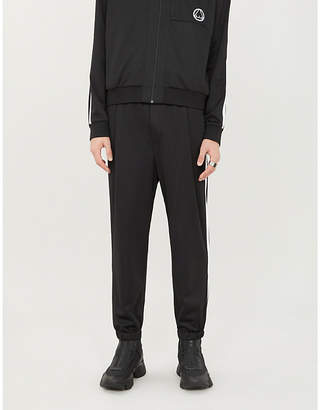 McQ Relaxed-fit striped-side woven jogging bottoms