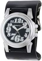 Nemesis Women's THNL069K Trendy Collection Black on Black Leather Band Watch