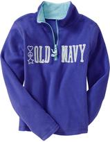 Old Navy Girls Micro Performance Fleece Half-Zip Pullovers