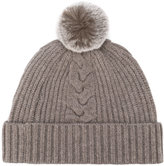 N.Peal fur bobble hat - women - Rabbit Fur/Cashmere - One Size
