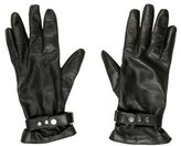 Belstaff Leather Cashmere-Lined Gloves