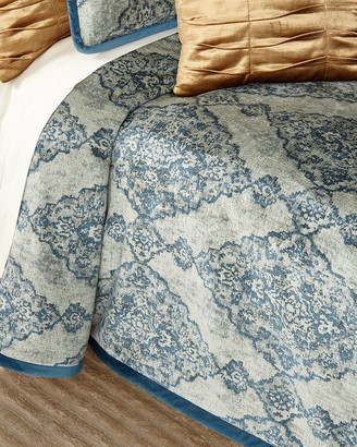 Dian Austin Couture Home Emporium Medallion King Quilt with Velvet Piping
